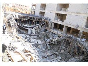 Kahramanmaraş'ta inşaatta göçük: 3 yaralı