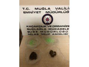 Milas'ta uyuşturucu madde ele geçirildi