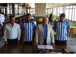 B.B. Erzurumspor Egemen Korkmaz ve Auremir'le sözleşme imzaladı
