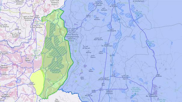 İran güçleri, Golan Tepeleri'nin karşısından çekildi