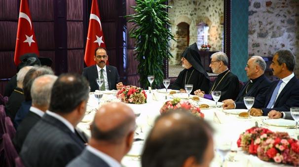 Cumhurbaşkanlığı Sözcüsü Kalın'dan azınlık cemaatleri ile bir araya geldi
