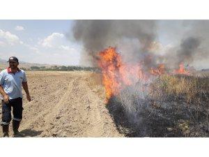 Bingöl'deki ot yangını paniğe neden oldu
