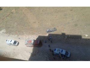 Belediye aracı şarampole yuvarlandı