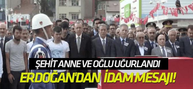 Erdoğan'dan şehit cenazesinde idam mesajı!