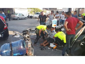 Edremit'te motosikletler çarpıştı: 1 yaralı