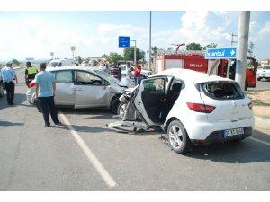 İpsala'da trafik kazası: 4 yaralı
