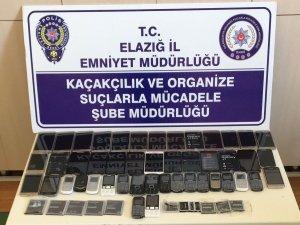 Elazığ'da 46 adet  kaçak telefon ele geçirildi