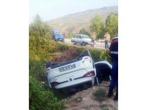 Safranbolu'da otomobil devrildi: 4 yaralı