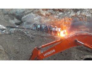 Maden ocağında mahsur kalan 4 işçi böyle kurtarıldı
