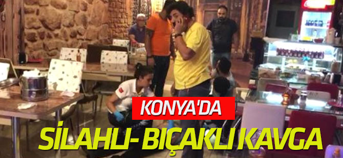 Konya'da Silahlı- Bıçaklı Kavga: 3 Yaralı