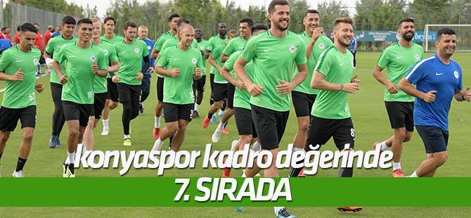 Konyaspor kadro değerinde 7. sırada