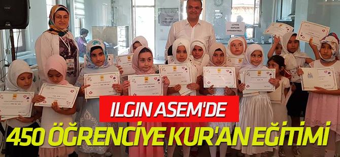 Ilgın ASEM'de 450 öğrenciye Kur'an eğitimi verildi