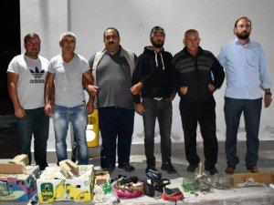 Kaçak Şahin avcılayan 4 kişi yakalandı