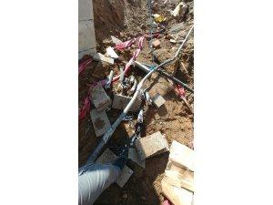 Yurt inşaatından kablo hırsızlığı