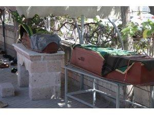 Nevşehir'de öldürülen yaşlı çift, son yolculuğuna uğurlandı