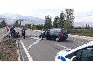 Akıncılar'da trafik kazası: 2 yaralı