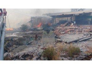 Muğla'da kağıt fabrikasında yangın