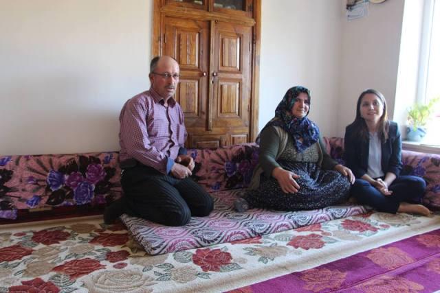Turan'dan şehit ailelerine ziyaret