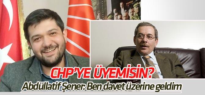 Şener: CHP'ye üye değilim, üye olmayı da düşünmüyorum
