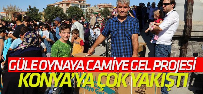 Güle Oynaya Camiye Gel Projesi Konya'ya Çok Yakıştı