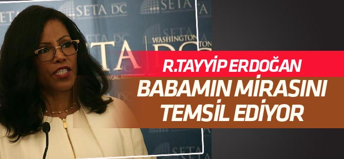 Malcom X'in kızı  Recep Tayyip Erdoğan'ı babasına benzetti