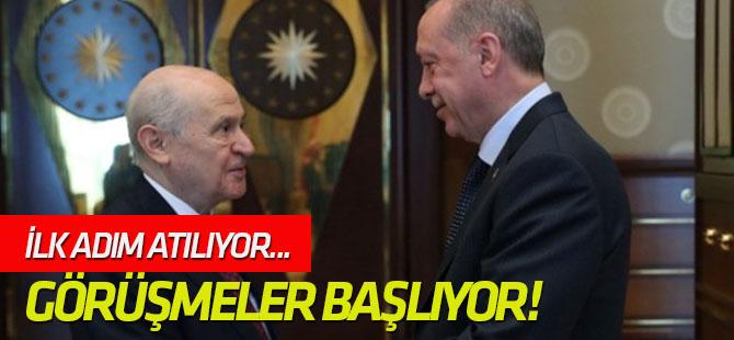 AK Parti ile MHP arasındaki görüşmeler başlıyor!