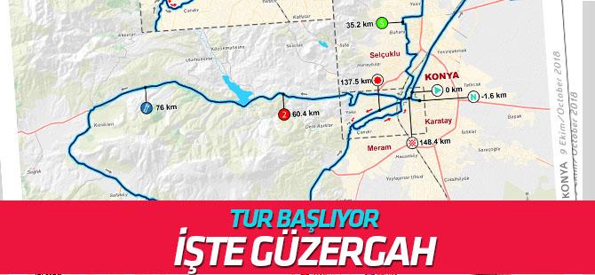 Tur Konya'dan  başlıyor