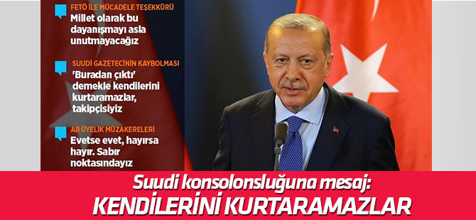 Erdoğan'dan konsolonsluk açıklaması