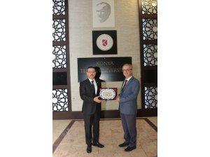 Sayıştay Başkanı Baş, Rektör Özçelik'i ziyaret etti