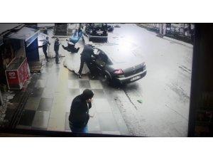 Ankara'da aynı yerde çifte kaza dehşeti kamerada