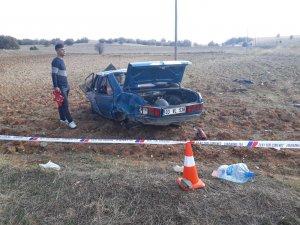 Afyonkarahisar'da devrilen otomobilin sürücüsü öldü