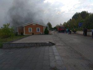 Gençlik evinde korkutan yangın