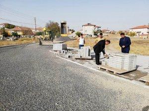 Çiçekdağı'nda caddeler yenileniyor