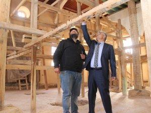 Bozkır'da Selçuklu eseri caminin restorasyonu devam ediyor
