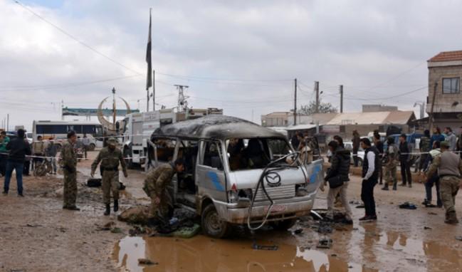 Azez'de bombalı araçla saldırı düzenlendi!