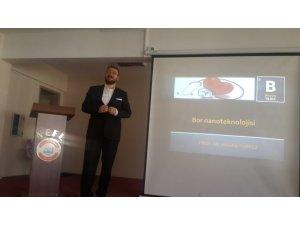 Prof. Dr. Türkez, Prof. Dr. Necmettin Erbakan Fen Lisesi Öğrencilerine Bor Nanoteknolojisini Anlattı