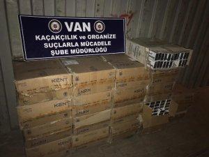 Van'da 9 bin 400 paket kaçak sigara ele geçirildi