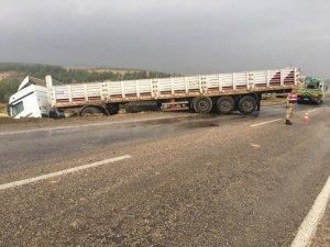 Kilis'te trafik kazaları:1 yaralı