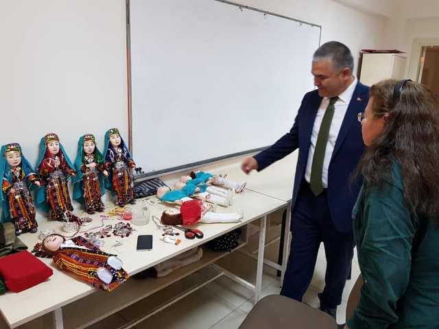 Karahan Halk Eğitim merkezini ziyaret etti