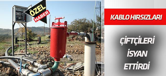 Konya'da kablo hırsızları çiftçileri isyan ettirdi