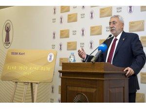 """TESK Başkanı Palandöken: """"100 bine yakın esnaf TESK kart kullanıyor"""""""
