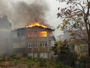 Trabzon'da yangın korkuttu
