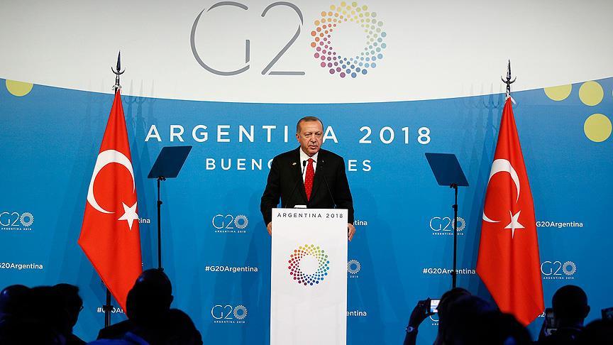 Cumhurbaşkanı Erdoğan G20'de 8 liderle görüştü