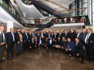 TFF 2 ve 3. Lig kulüp başkanlarından  Demirören'e ziyaret