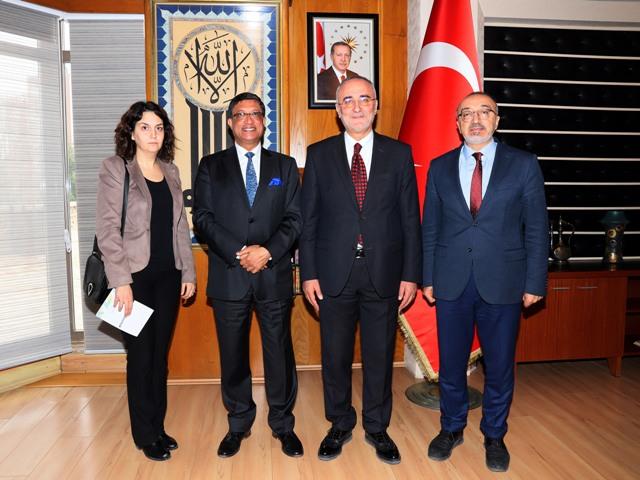 Hindistan Büyükelçisinden Büyükşehir'e ziyaret
