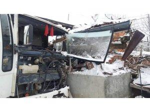Buzlanma kazaya sebep oldu : 1 yaralı