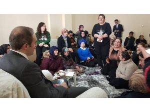 Kadınlardan Başkan Vekili Epcim'e yoğun ilgi