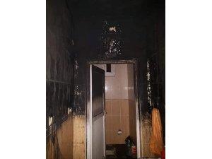 Fatsa'da ev yangını ucuz atlatıldı