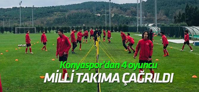 Konyaspor'dan 4 futbolcu milli takıma davet edildi