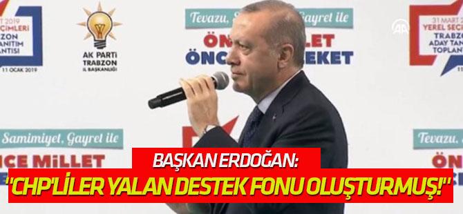 """Erdoğan: """"CHP'liler yalan destek fonu oluşturmuş!"""""""